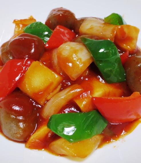 理想のトマトで酢こんにゃく【酢豚風】 大