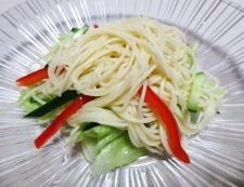 イカとパスタのタコスサラダ 調理③