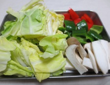 豚肉とキャベツの麺つゆ山椒炒め 【下準備】②
