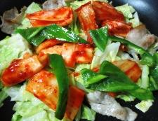 豚キムチのオイスターソース炒め 調理③
