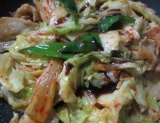 豚キムチのオイスターソース炒め 調理④