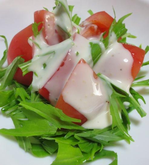 トマトと水菜のシーザーサラダ大