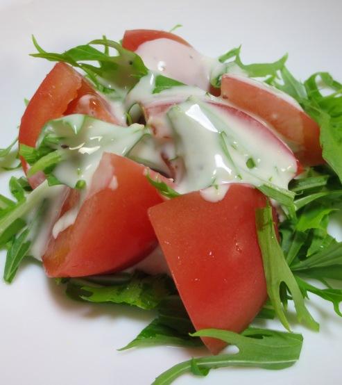 トマトと水菜のシーザーサラダ B