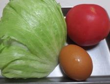 ささみとトマトのめんつゆ胡麻油炒め 材料②