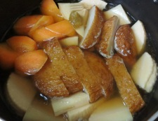 さつま揚げと筍の炊いたん 調理