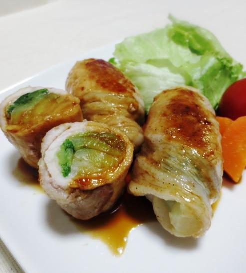豚肉の青梗菜巻き B