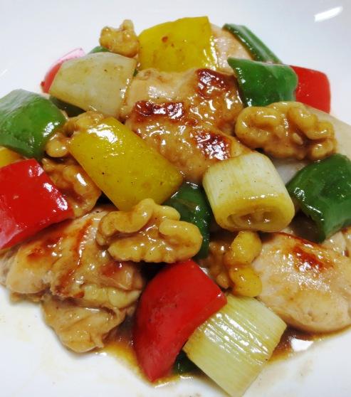 鶏肉とくるみのピリ辛炒め 大