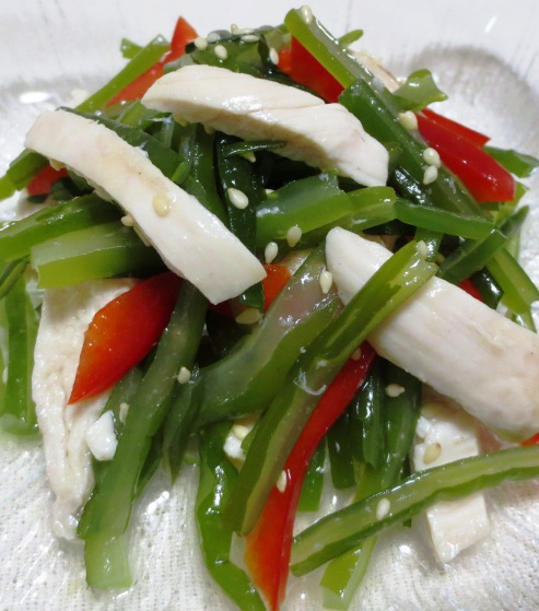 茎わかめの中華風サラダ 拡大