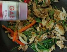 豚肉とほうれん草のガラムマサラ炒め 調理④