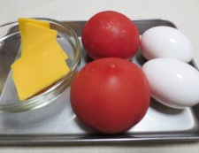 5分でできる炒り卵トマト 材料