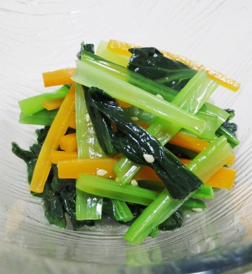 小松菜とにんじんのおひたし B