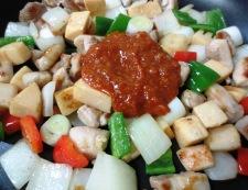 鶏肉の辛味噌炒め 調理④