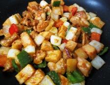 鶏肉の辛味噌炒め 調理⑤