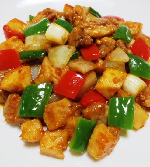 鶏肉の辛味噌炒め 拡大