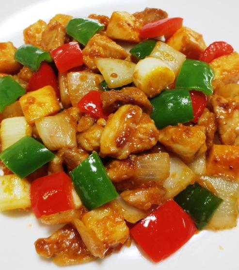 鶏肉の辛味噌炒め 大