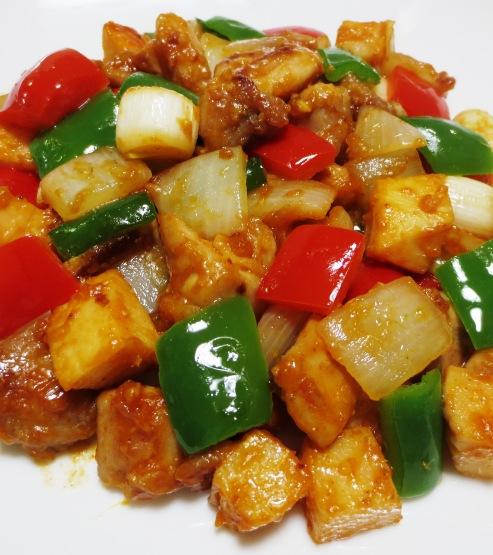 鶏肉の辛味噌炒め B