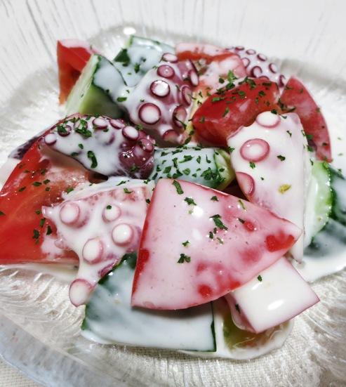 タコとトマトのサラダ B
