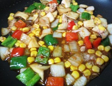 ツナコーンのピリ辛炒め 調理④