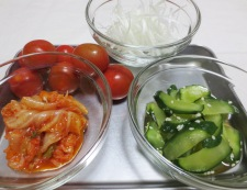 トマトキムチ素麺 材料①