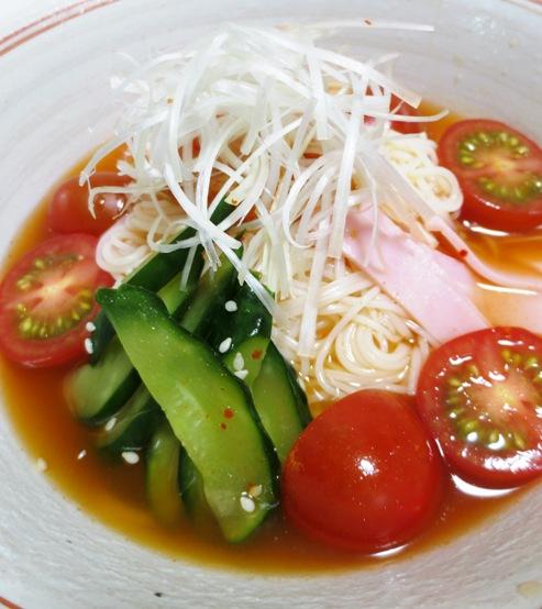 トマトキムチ素麺 拡大