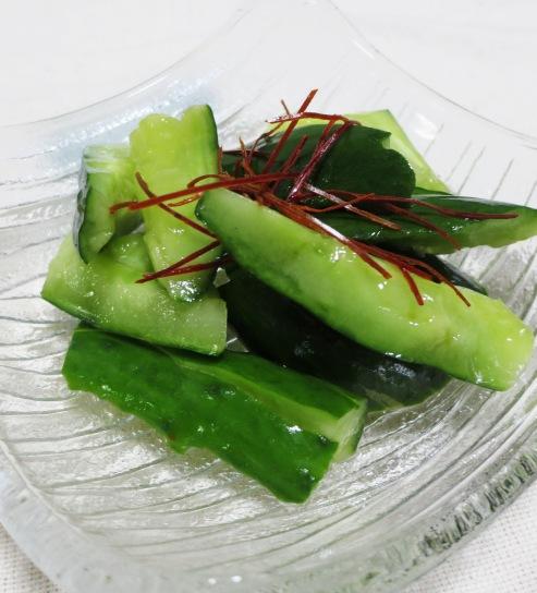 たたききゅうりの甘酢和え 大