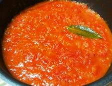 ベーコンと茄子のトマトソースパスタ トマトソース