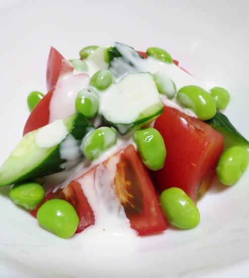 トマトと枝豆のサラダ 大