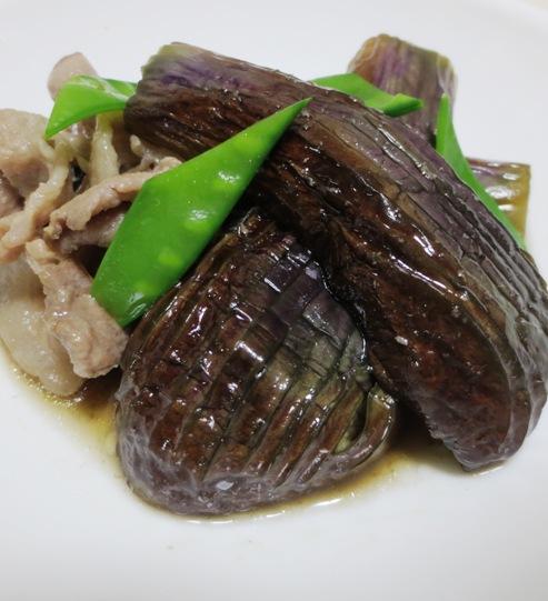 ナスと豚肉の生姜煮 大