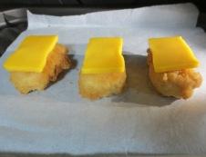 唐揚のチーズ焼き 調理②
