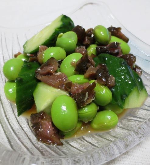 枝豆と柴漬けのわさぴポン酢和え B