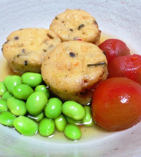 枝豆とがんもどきの冷やし鉢 大