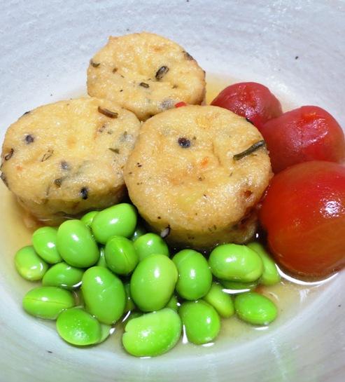 枝豆とがんもどきの冷やし鉢 B