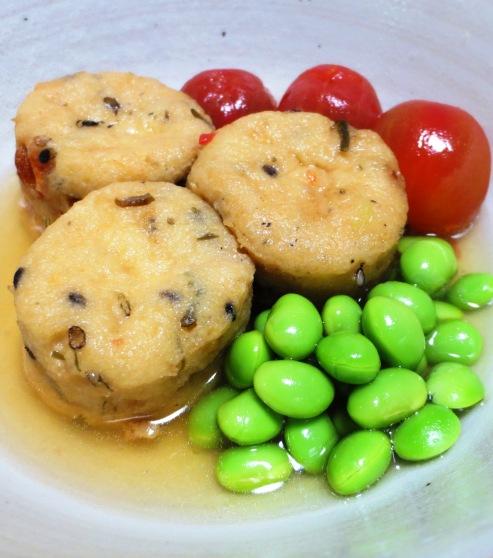 枝豆とがんもどきの冷やし鉢 拡大