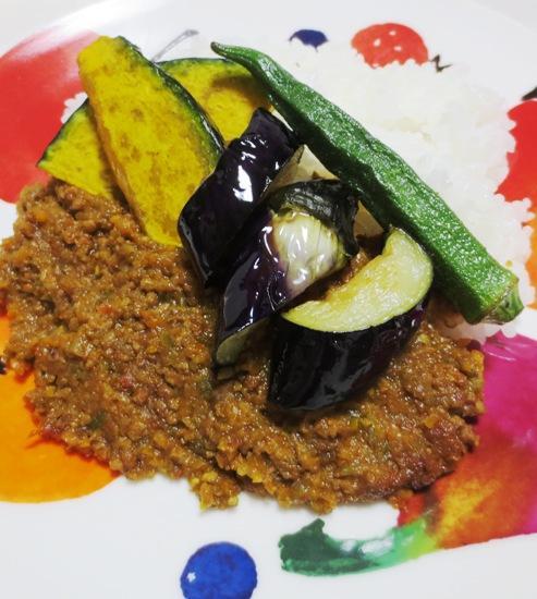夏野菜のキーマカレー B