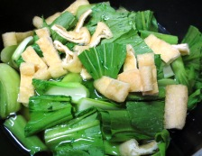 青梗菜 調理②