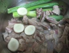 牛すじの生姜味噌焼き 【下準備】②