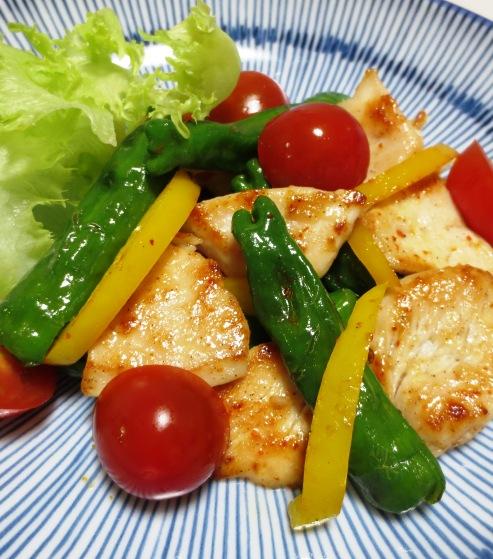 鶏むね肉とししとうのピリ辛炒め 拡大