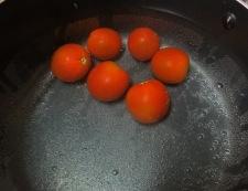 翡翠ナスと枝豆の煮浸し 【下準備】①