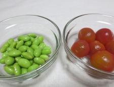 翡翠ナスと枝豆の煮浸し 調理③
