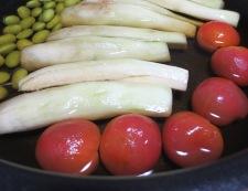 翡翠ナスと枝豆の煮浸し 調理④