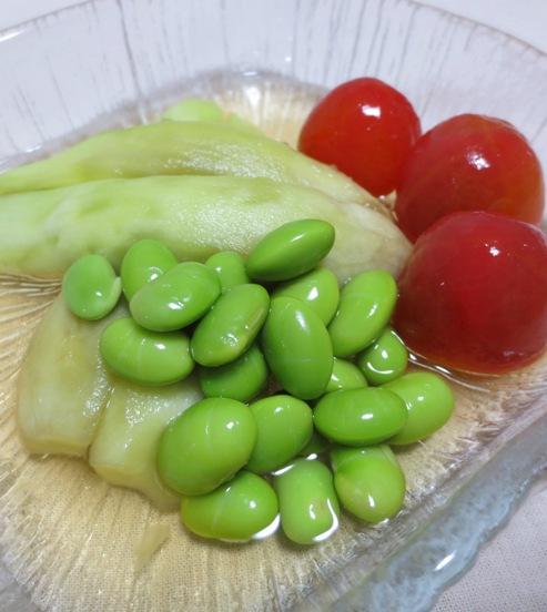 翡翠ナスと枝豆の煮浸し 拡大