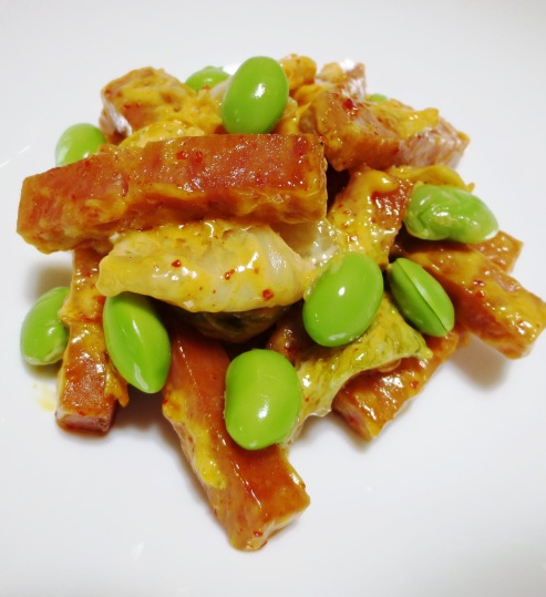スパムのキムチマヨ炒め 大