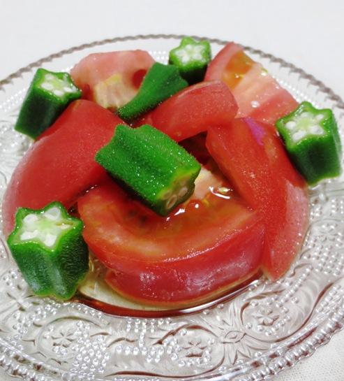 トマトとおくらのサラダ 大