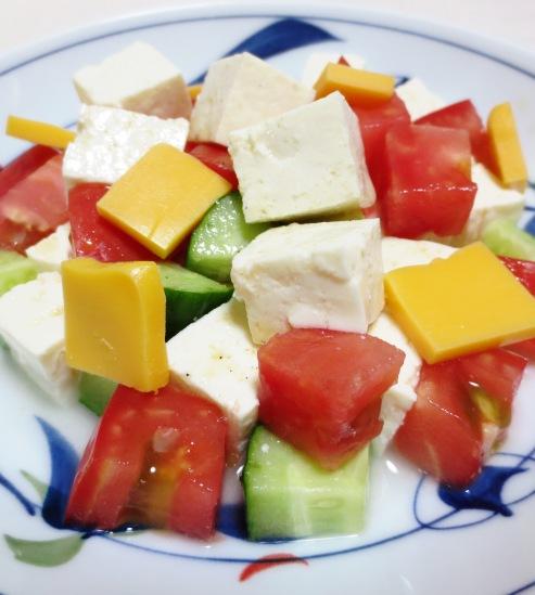 豆腐とチーズのサラダ 大