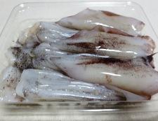 イカゲソとキムチのオイスターソース炒め 材料①