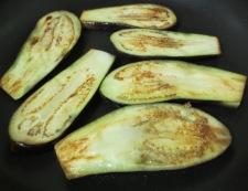 茄子の肉味噌のせ 調理⑥