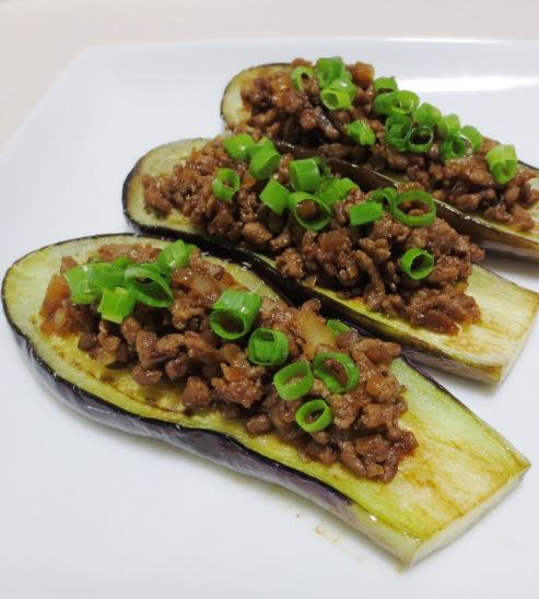 茄子の肉味噌のせ 拡大