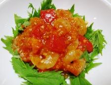 トマト海老チリ 調理⑥