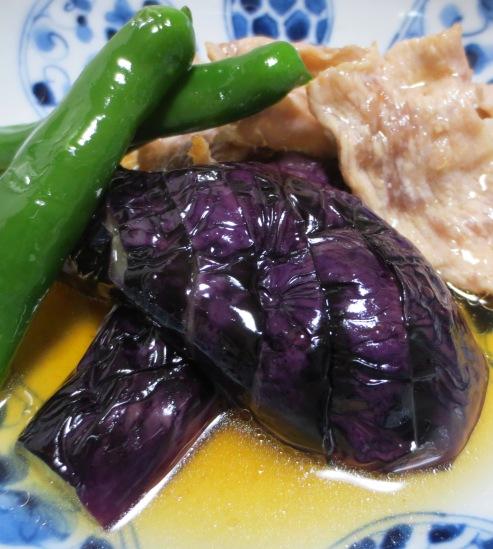 茄子と豚肉の南蛮漬け B