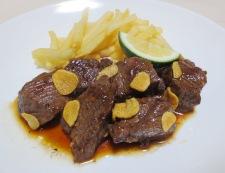 かぼす醤油のひとくちビーフステーキ 調理④